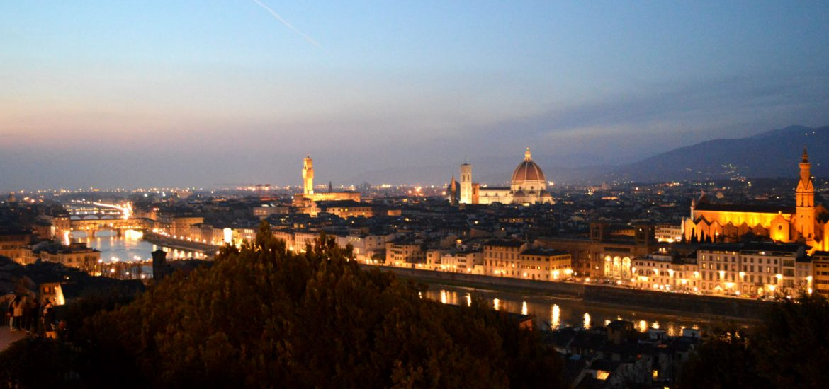 Florence, Italy at the sunset