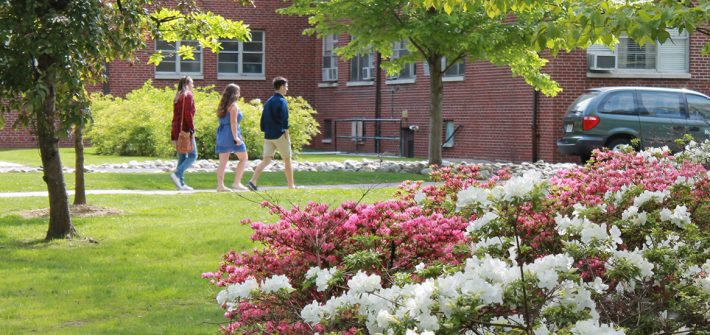 Rowan Students Walking on Campus
