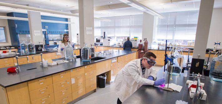 science lab at Rowan