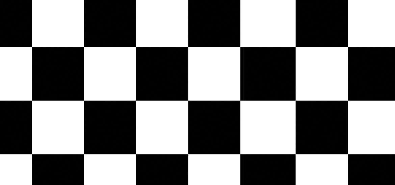 black and white checker background