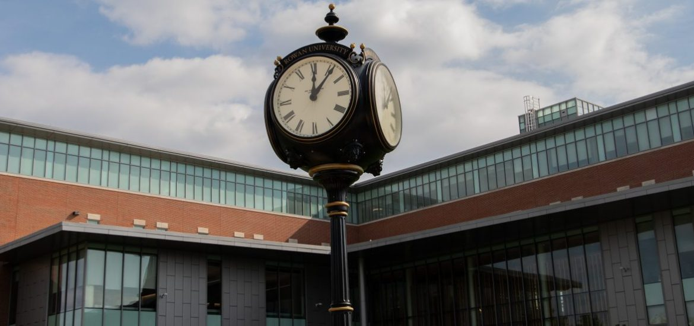 Back of Business Hall at Rowan