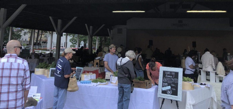 People at vendors, Laurel Market