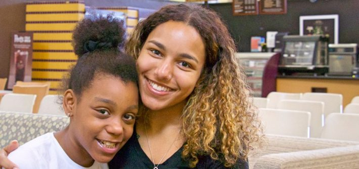 Incoming Rowan student Natalie Rojas in the Chamberlain Student Center