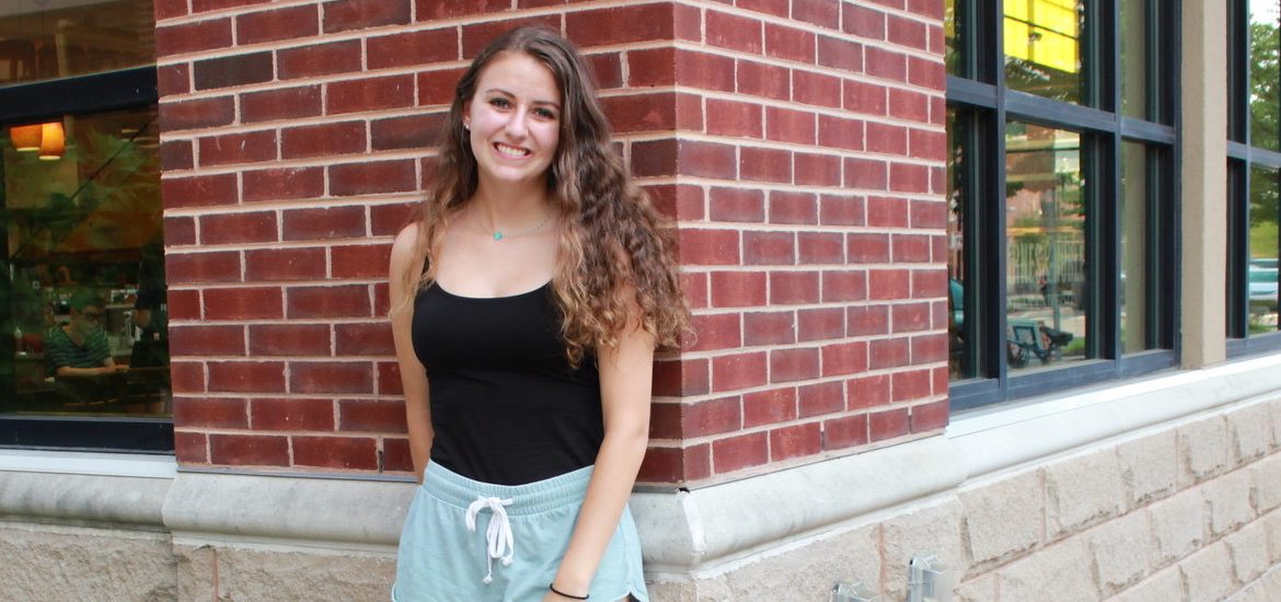Junior Biochemistry major Alyssa Salera, who interned in Isreal in summer 2019, is photographed outside of the Barnes and Noble