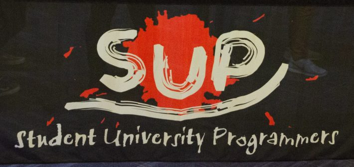 A Student University Programmers (SUP) banner