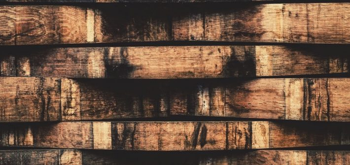 Stock image of a close up of aged brown wicker.