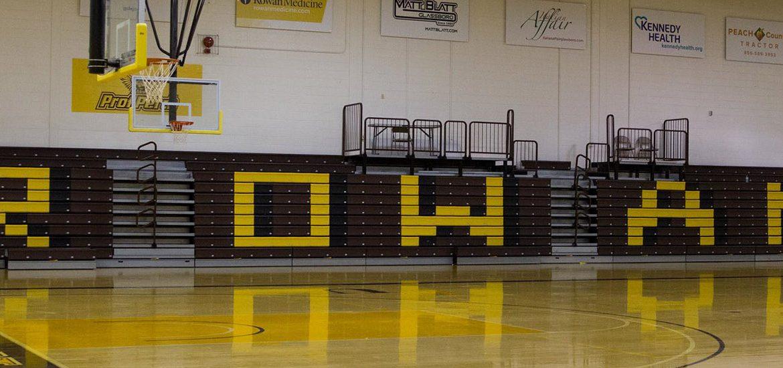 Basketball court inside Esby Gym