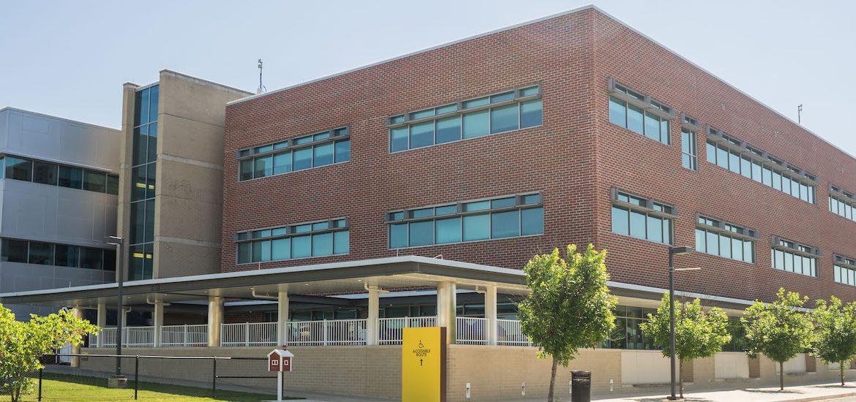 Exterior photo of James Hall on Glassboro campus.
