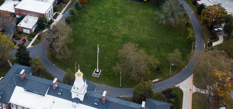 Drone shot of Bunce Green