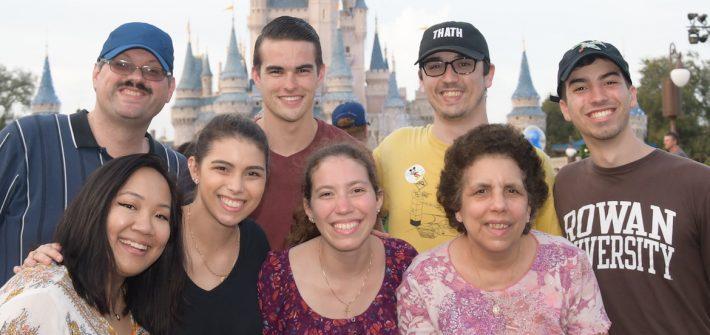 A family photo at Disney World.