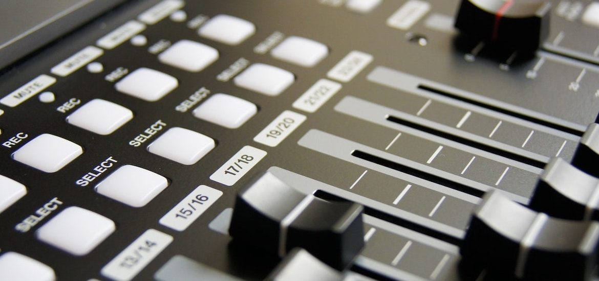 Stock image of music industry technology.