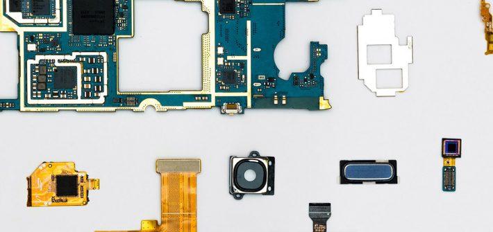 Stock image of robotics parts