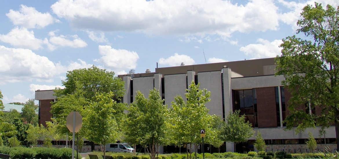 Exterior shot of Robinson Hall