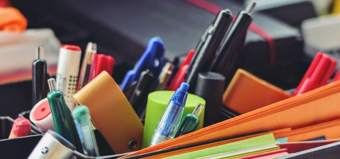 Stock image of school or office supplies