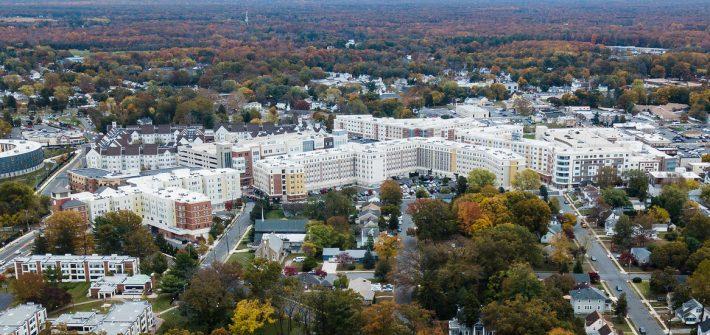 Drone photo of Glassboro campus