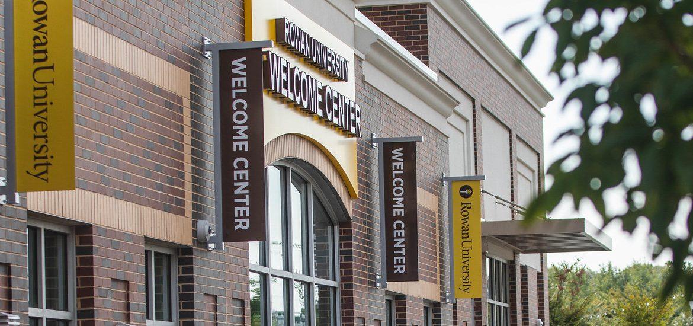 Exterior image of Rowan Welcome Center as seen from Rowan Boulevard