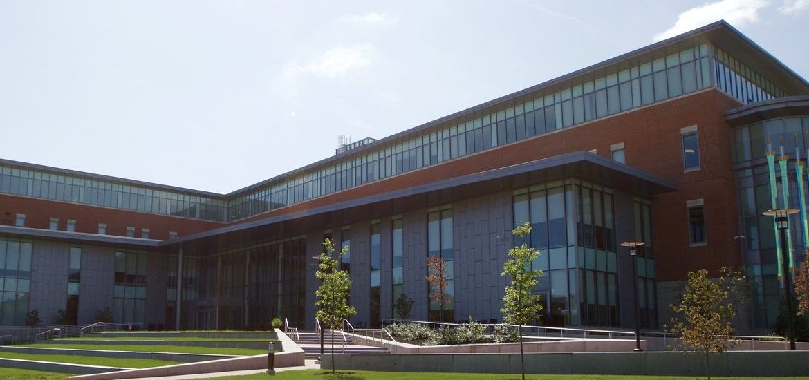 Exterior shot of Business Hall.