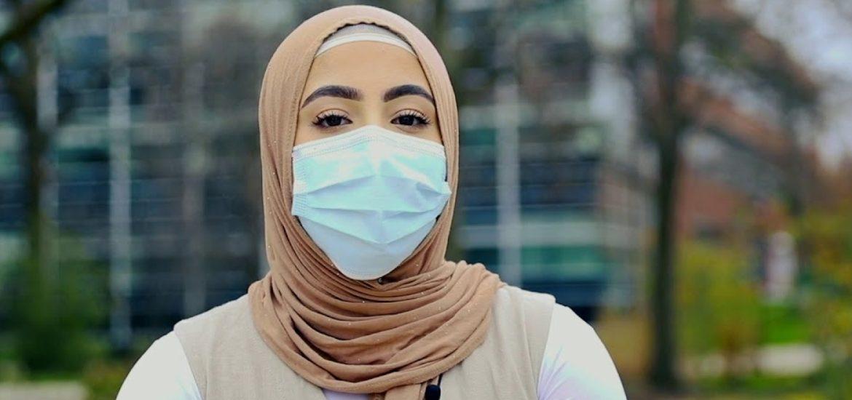 Yasmien Farhat, a member of the Muslim Student Association.