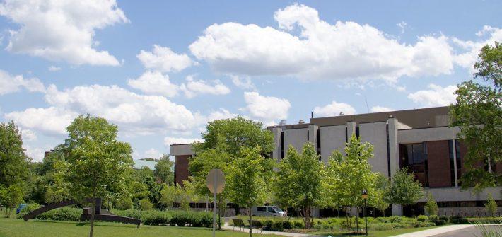 Exterior shot of campus.