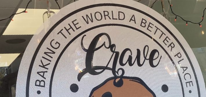 Logo for the bakery Crave.