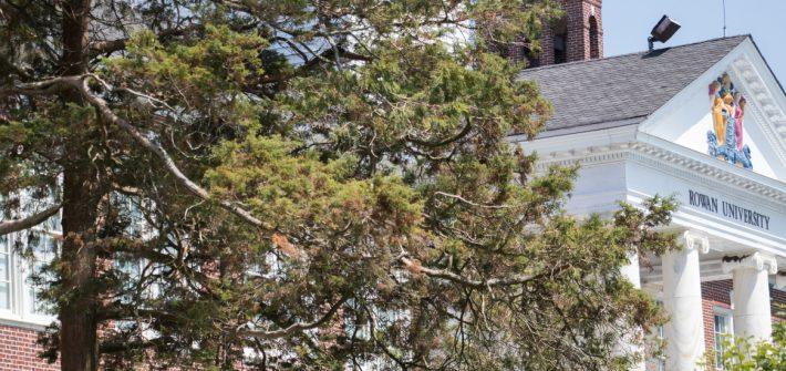 Bunce Hall behind trees