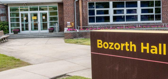 Exterior shot of Bozorth Hall.