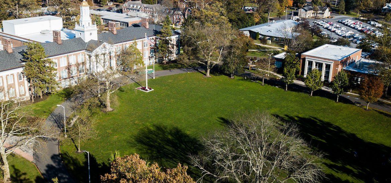 Drone shot of Bunce Green.