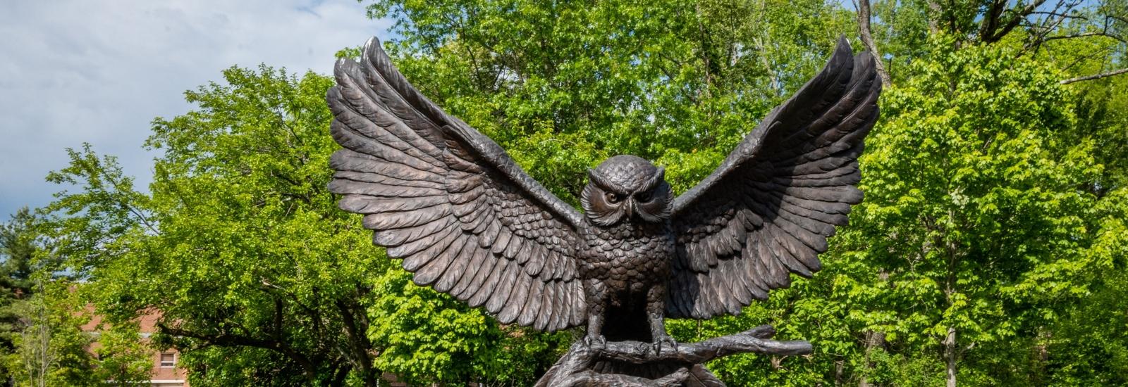 The Rowan Prof Statue.