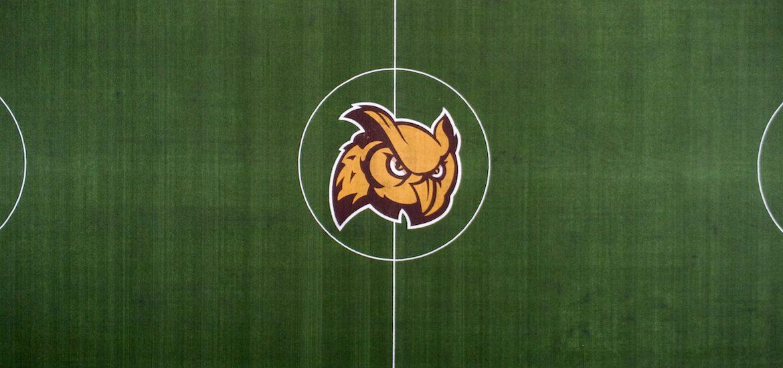 Drone shot of Profs field.