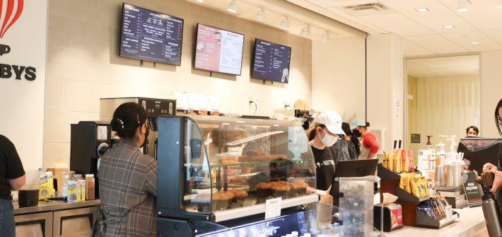 Saxbys Coffee located inside Business Hall.